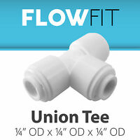 "Express Water 1/4"" Union Tee Fitting Connection for Water Filters / RO Systems"