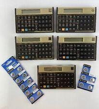 Lot of 5 Hewlett Packard Hp 12C Business Financial Accounting Calculators w/Batt
