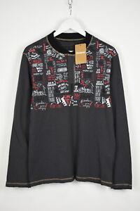 Desigual TS-ISTES Homme Lettre Large Imprimé Col Rond Henley T-Shirt 10873 MM