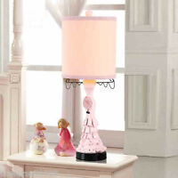 Simplicity Style Pink E27 Diameter 12.8CM Resin+Fabric Bedroom Table Lamp