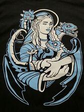 Game of Thrones Mother of Dragons Daenerys Khaleesi T-Shirt Black Size XL