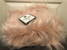 NEW Pottery Barn Teen Form Faux Fur Furrific Euro Pillow Cover Pink