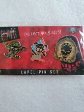 More details for dc suicide squad lapel pin badges set of three slipknot harley quinn rick...