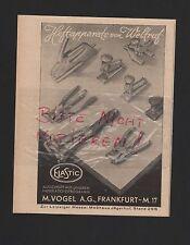 FRANKFURT/MAIN, Werbung 1941, M. Vogel AG Elastic