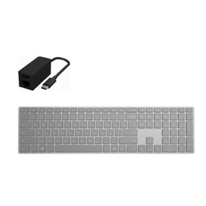 Surface Keyboard Gray + Surface USB-C to Ethernet/USB 3.0 Adapter - Wireless Blu