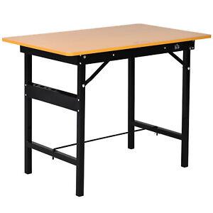 Werkbank Werktisch Arbeitstisch Arbeitsplatte klappbar Stahl MDF Gelb+Schwarz