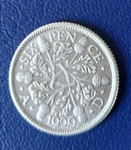 1929 SILVER SIXPENCE COIN HIGHER GRADE
