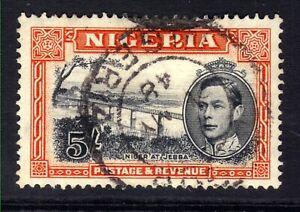 Nigeria 1942 KGV1 5/-d Black & Orange used SG 59a ( L601 )
