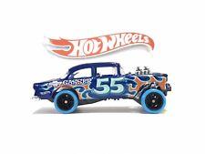 Hot Wheels '55 Chevy Bel Air Gasser Blue Flames Real Riders SUPER CUSTOM