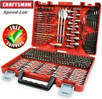 Craftsman 300 Piece Drill Drive Screwdriver Bit Set Accessory Kit With Case New
