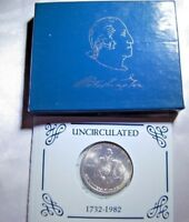 1982 George Washington 90% Silver Half Dollar UNC w/ Box Free Shipping