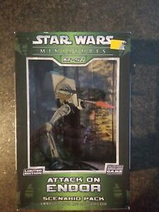 ATTACK ON ENDOR AT-ST Star Wars Miniatures Wizards of the Coast 2006