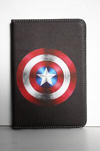 Smart Case Cover for iPad Mini 1/2/3/4, iPad 2/3/4/Air 2/Air-Captain America