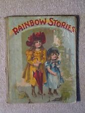 Antique Vintage Jolly Santa Claus Book Rainbow Stories Book McLoughlin Bros.