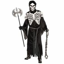 Adult Mens Crypt Keeper Skeleton Grim Reaper Halloween Fancy Dress Costume