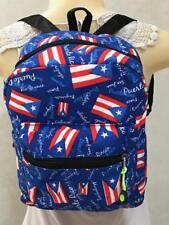 New PUERTO RICO Flag Unisex BACKPACK BAG Side Pockets GIFT SOUVENIRS 11x8.5x6""