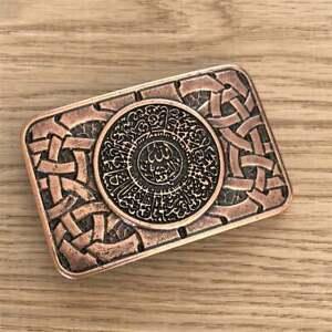 Muslim Amulet Talisman for Good Luck Symbol Buckle for Belt Arabic Belt Close