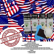 HYDRDOGRAPHIC WATER TRANSFER HYDRO DIP KIT ACTIVATOR 1M USA FLAG SMALL FILM
