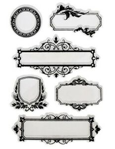 Forever in Time Clear Cling Rubber Stamp Elegant Frames and Name Tags