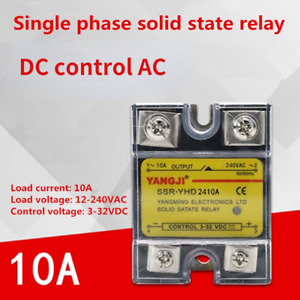 Single-phase DC controlled AC DC-AC SSR solid state relay YHD2410A 240VAC 10A