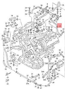 Genuine AUDI A6 allroad qu. quattro Avant S6 4B2 4B4 Coolant Pipe 078121491G