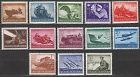 Stamp Germany Mi 873-85 Sc 257-69 1944 WWII Third Reich Memorial Wehrmacht MH
