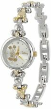 Women's MCK313 Disney Mickey Mouse elegant Two Tone Thin Bracelet Watch