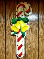 """VTG  Empire Lighted 27"""" Christmas """"CANDY CANE"""" Wall Hanging Not A Blow Mold"""
