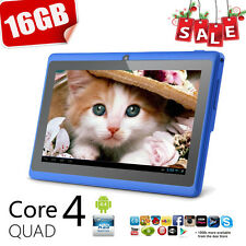"16GB 7"" INCH GOOGLE ANDROID TABLET PC QUAD CORE 4.4 WIFI UK KIDS CHILDREN CHILD"