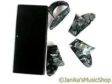 4 grandi dimensioni CELLULOIDE Thumb PICKS Plectrums per chitarra BANJO diapositiva RISONATORE