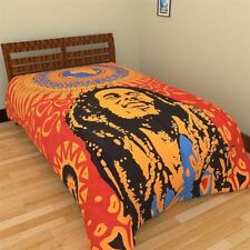 Single Size Mandala Duvet Cover Throw Indian Bob Marley Quilt Doona Cover Set