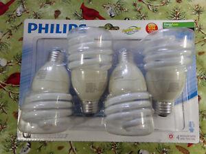 4 Packs Philips Energy Saver 100W Equivalent Daylight Deluxe T2 Light