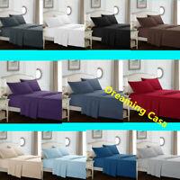 Egyptian Comfort 1800 Count 4P Bed Sheet Set Deep Pocket Hypoallergenic Sheets G