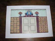 Planche du JOURNAL de la DECORATION : décoration murale  par M. SCHWARZER