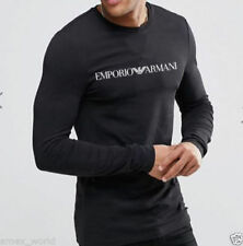 ARMANI Crew Neck Long Sleeve T-Shirts for Men