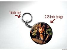 PIRATES OF THE CARIBBEAN Jack Sparrow Johnny Depp 2.25 inch Key Chain
