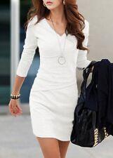 Womens White Bandage Bodycon Party Evening Ladies Sheath Short Mini Dress