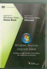 ►Microsoft Windows Vista Ultimate Upgrade Update Home Basic Anytime 32-Bit DVD
