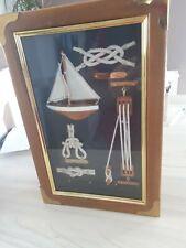 Sailer Ship Knots Display In Wooden Key Cabinet.