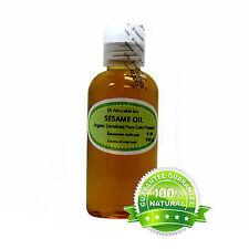 4 oz Premium UNREFINED Sesame Seed Oil 100% Pure Organic Cold Pressed Best Fresh