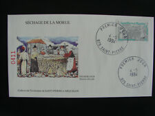 Spm/Saint Pierre et Miquelon Fdc May 4Th 1994 Cod Drying