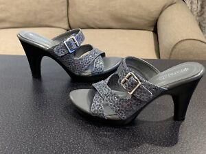 Patrizia By Spring Step Patent Leather Snake Print Heels Women's Size: 6.5-7 U.S