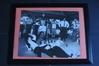 MUHAMMAD ALI SIGNED AND FRAMED PHOTOGRAPH WITH THE BEATLES 16X20