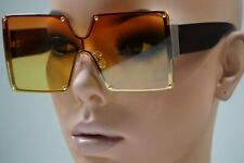 Fashion Square Siamese Rimless Sunglasses Metal Oversized Shades Eyewear Glasses