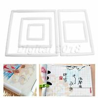 1Pc 5 Sizes Rectangle Clip Plastic Embroidery Frame For Cross Stitch Needlework
