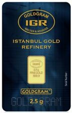 2.5 Gram GOLDGRAM IGR bar in Sealed Assay Case - Serial Number - Free Shipping