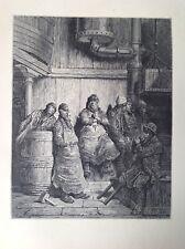 Gustave Dore 1872 antiguo de impresión, Cerveceros de hombres, Londres, Inglaterra