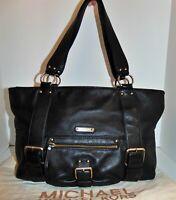 Michael Kors Black Leather Large Tote Shoulder Bag