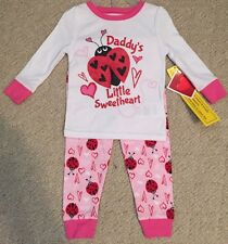 New 3T Toddler Girls Daddy's Sweetheart Valentines PJ PAJAMAS Snug Fit Set