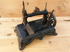 1890's BRUNONIA sewing machine decorated cast iron GERMANY